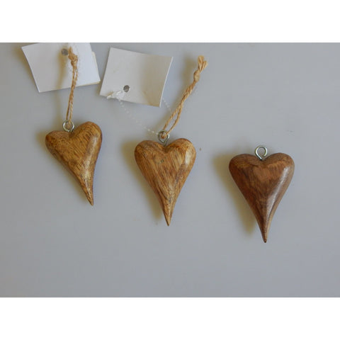 Mini Tapered Chunky Wooden Heart