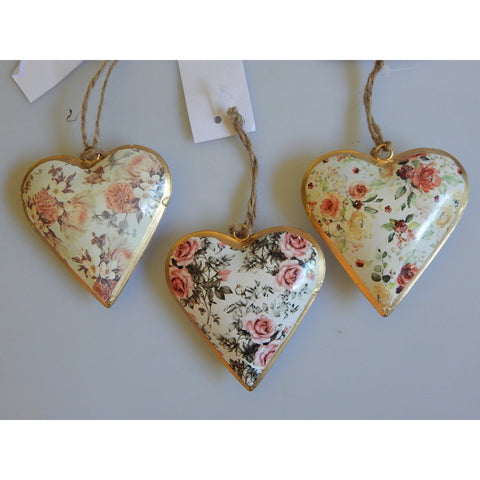 Floral Rose Hanging Heart