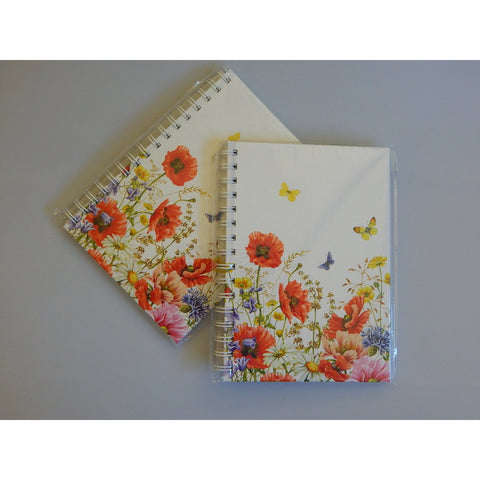 Poppy Garden A5 Notebook Journal