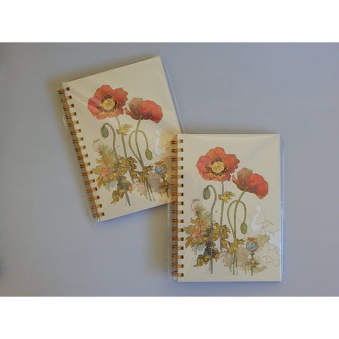 Poppy Flower A5 Notebook Journal