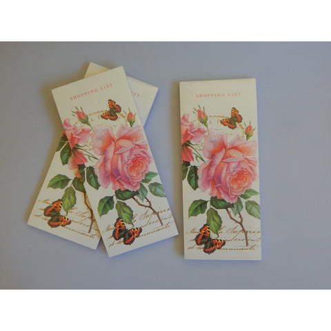 Rose Shopping List Memo Pad