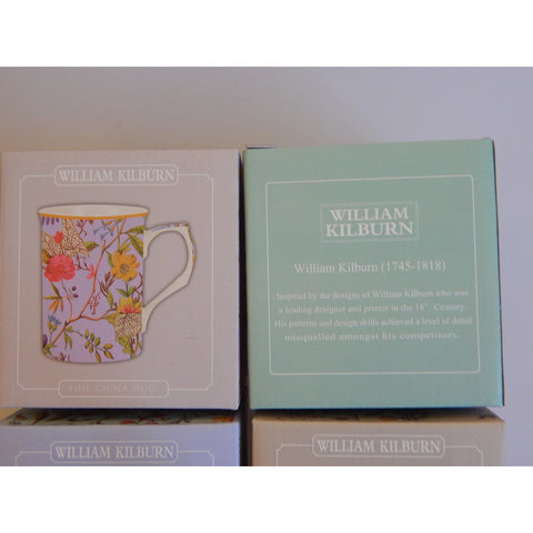 William Kilburn floral design fine china mug, buy now at Vivre, Nelson, NZ