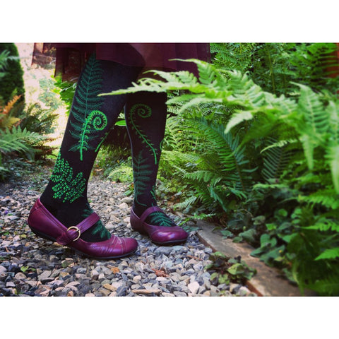 Ferns & Fiddleheads Knee High Socks