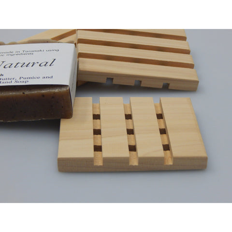 Macrocarpa Timber Soap Rack from the Be Natural Range