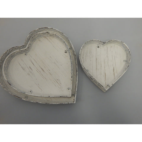 White Heart Tray
