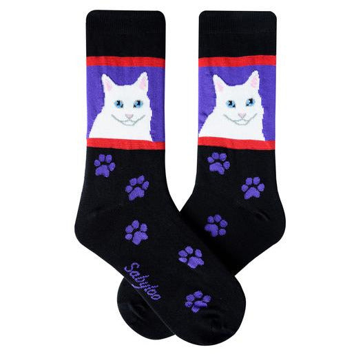Cat and kitty lovers everywhere will love these fun funky socks, buy now at Vivre, Nelson, NZ