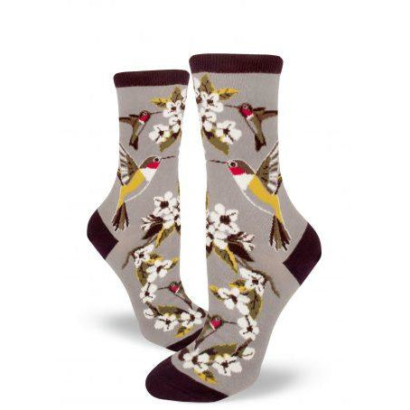 Hummingbird Garden Crew Socks by Modsocks buy at Vivre, Nelson, NZ