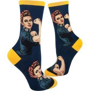 Rosie the Riveter Crew Socks