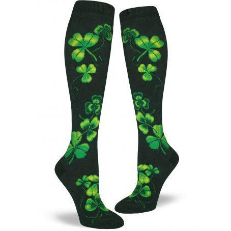 Clover and Shamrocks Knee High Socks