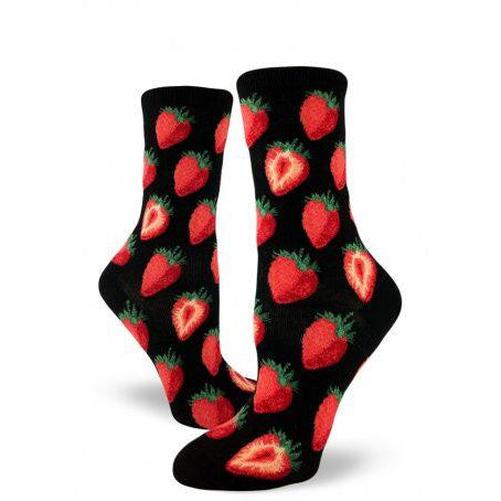 Sweet Strawberries Crew Socks
