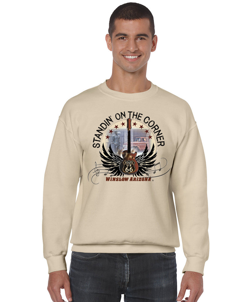 Standin' on the Corner Men's Crew Neck Sweatshirt