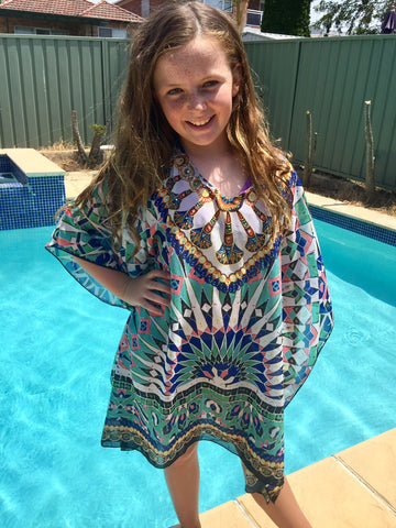 GIRLS AZTEC KAFTAN
