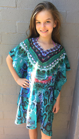 GIRLS EMERALD GREEN KAFTAN