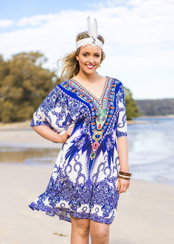 FEATHER DREAMS KAFTAN - Spray Tan Wear