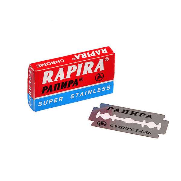 Double Edge Blades Rapira super stainless Chrome (5 Blade paper pack)