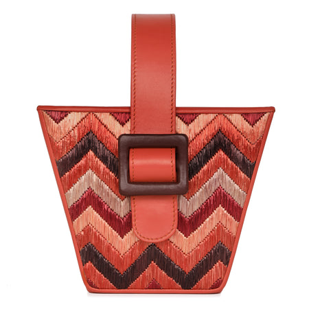 Lilly -  Stripes Embroidered Box Cross-Body Bag