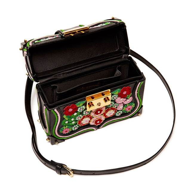 Lilly - Floral Embroidered Box Cross-body Bag - MAYRAFEDANE