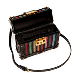 Lilly -  Stripes Embroidered Box Cross-Body Bag - MAYRAFEDANE