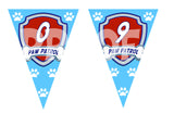 Printable Paw Patrol Pennant Banner. You get the Full Alphabet and #0 through #9. Each one is 5 inches wide and 7 inches tall.