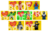 Printable. Lego Valentine Cards. Great for attaching to a gift bag or attach a sucker to give your favorite Valentine.