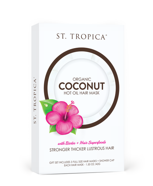 ST. TROPICA Coconut Hot Oil Hair Mask 3-Pack Gift Set