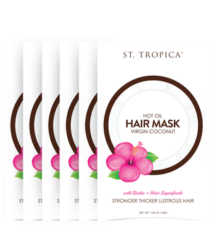 ST. TROPICA Coconut Oil Hair Mask 6-Pack