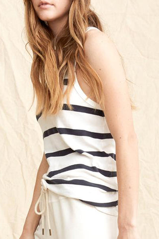 The Racer Tank, Bleached Stripe by The Great