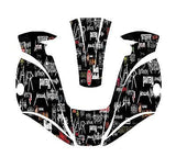 MILLER digital ELITE 257213  TITANIUM WELDING HELMET WRAP DECAL STICKER  jig 4