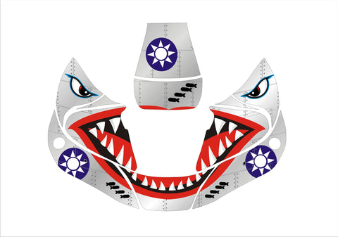 Miller Performance Series Welding Helmet Wrap Decal Sticker Jig Welder Shark Mouth