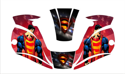 MILLER digital ELITE 257213  WELDING HELMET WRAP DECAL STICKER  jig welder super man 1