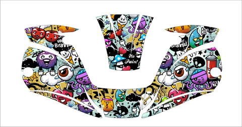 MILLER digital ELITE 257213  WELDING HELMET WRAP DECAL STICKER  jig welder graffiti 1
