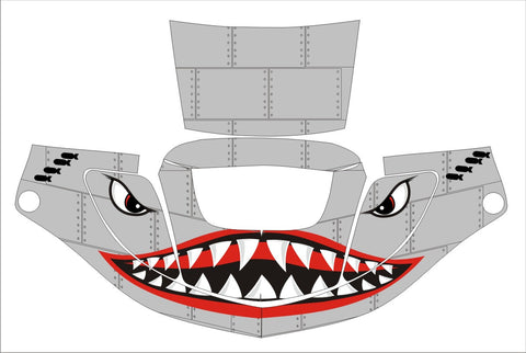 3M SPEEDGLAS 9000 9002 X XF AUTO SW JIG WELDING HELMET WRAP DECAL STICKER SKIN shark face up