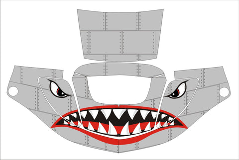 3M SPEEDGLAS 9000 9002 X XF AUTO SW JIG WELDING HELMET WRAP DECAL STICKER SKIN shark face