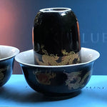 Imperial 3 Dragons Oolong Tea Cups - Limited Edition - THE BLUE HOUSE