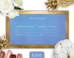 $300 Gift Card - THE BLUE HOUSE
