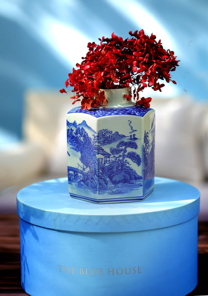 Blue Fine Bone China Vase