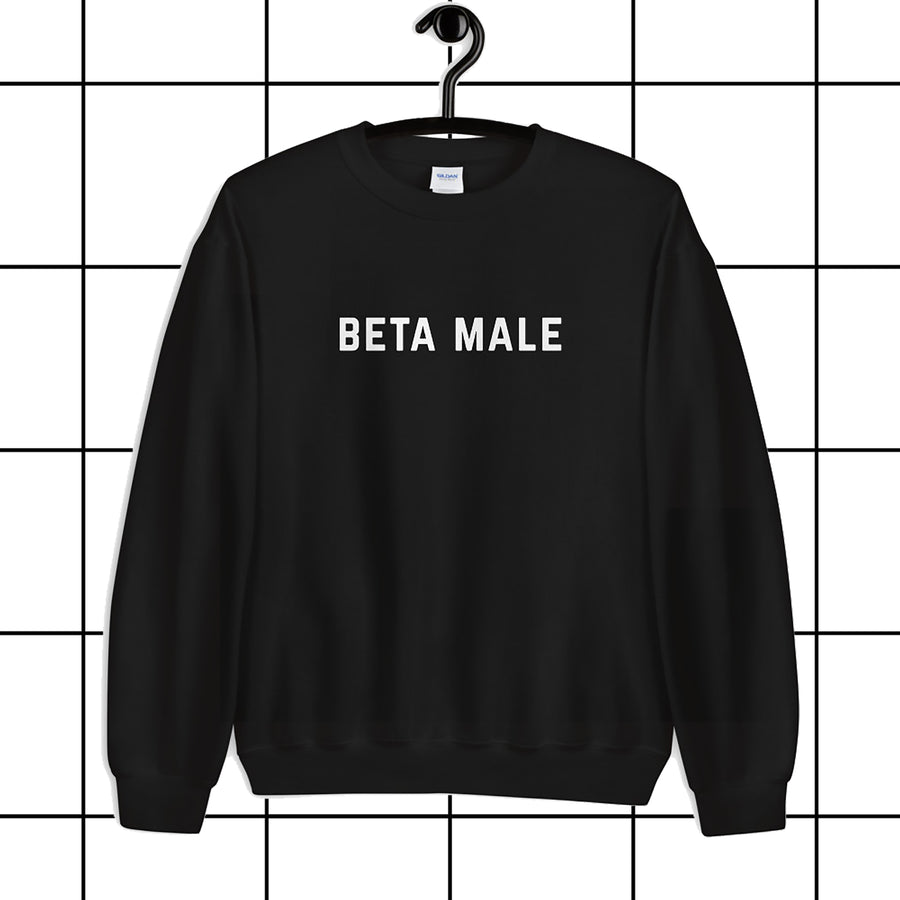Beta Male Black Unisex Sweatshirt