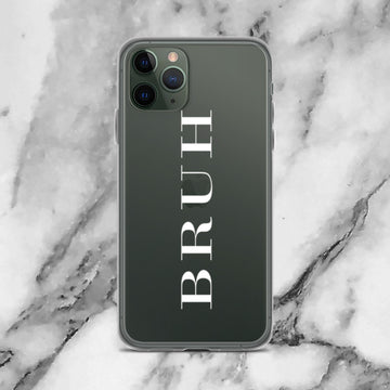Bruh London Couture Transparent Clear iPhone Case