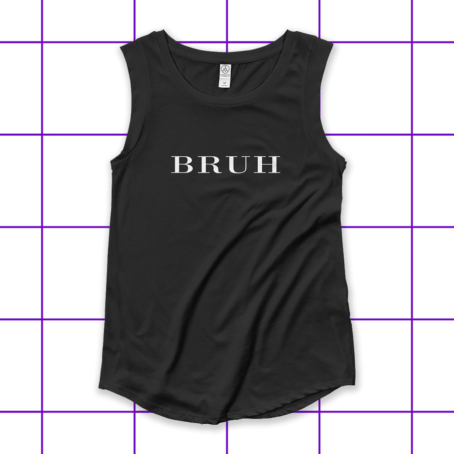 Bruh London Women's Cap Sleeve Biker Tank Top