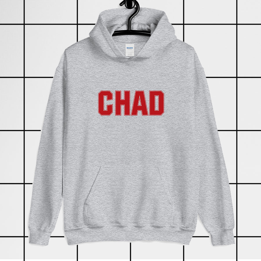 Chad Bro dude Athletic Heather Grey Unisex Hoodie
