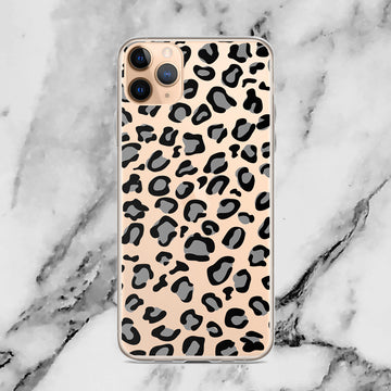 Leopard Cheetah Cougar Pattern Animal Print Clear Transparent iPhone Case