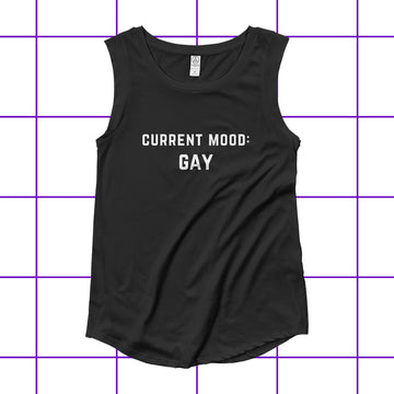Current Mood Gay Women's Biker Tank Shirt