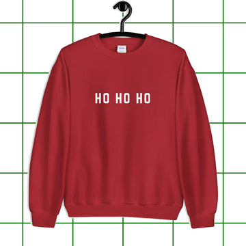 Red Ho Ho Ho Santa Holiday Unisex Sweatshirt