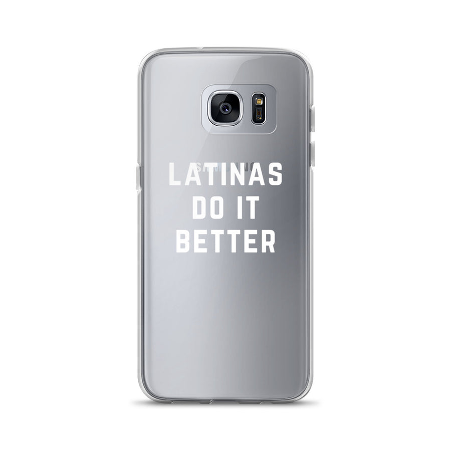 Latinas do it Better Clear Samsung Case