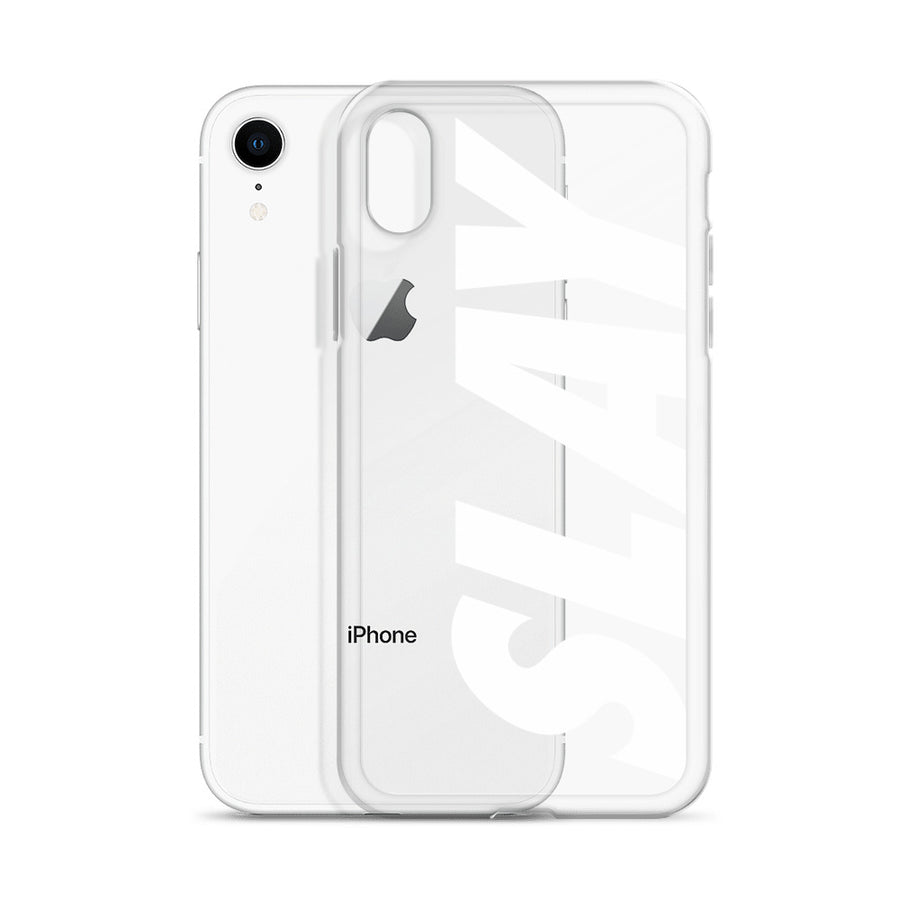 Slay Bold Urban Font Clear iPhone Case
