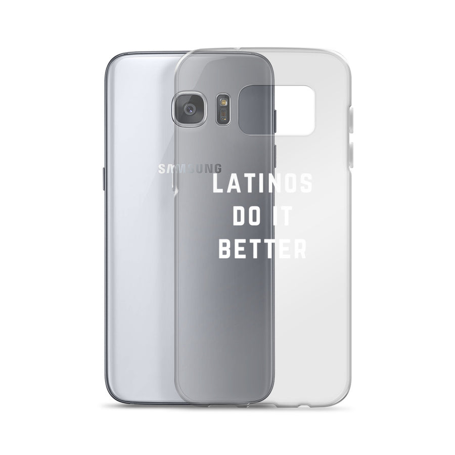 Latinos do it Better Clear Samsung Case