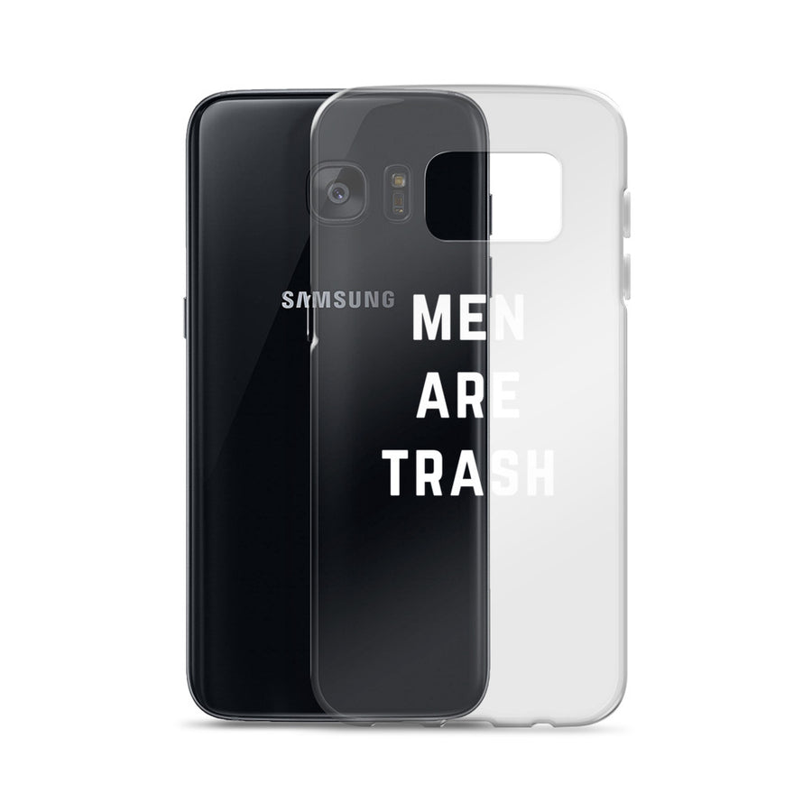Men Are Trash Transparent Clear Samsung Galaxy Case
