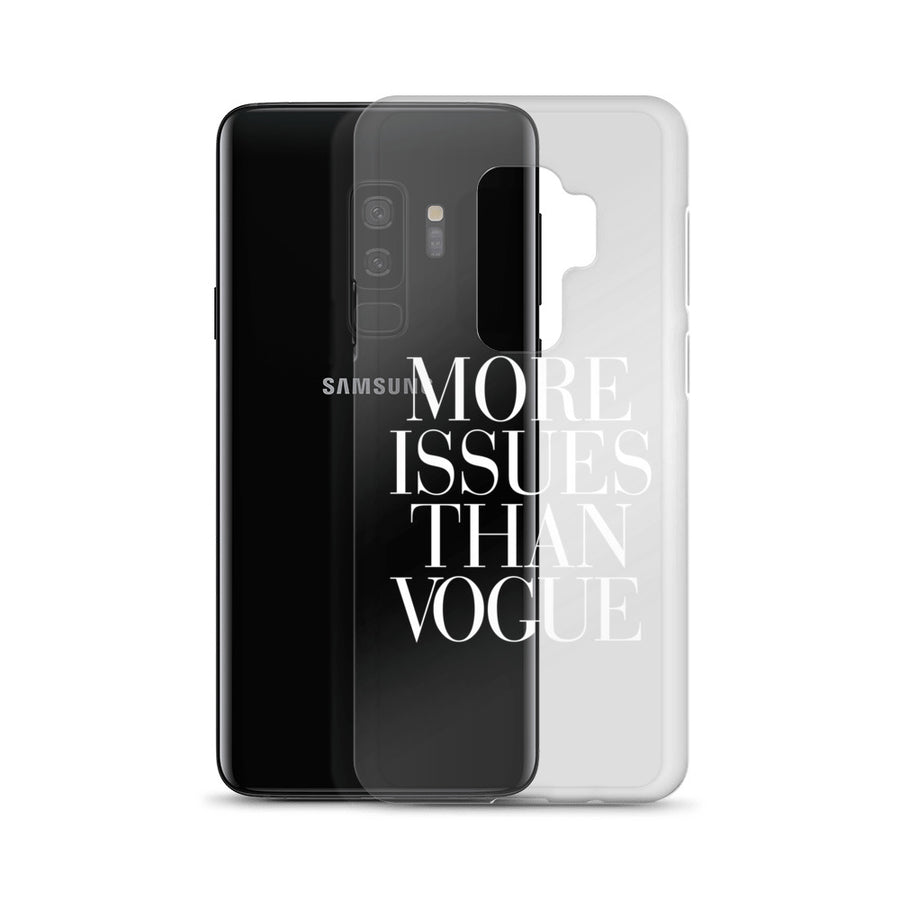 More Issues Than Vogue clear transparent Samsung Case