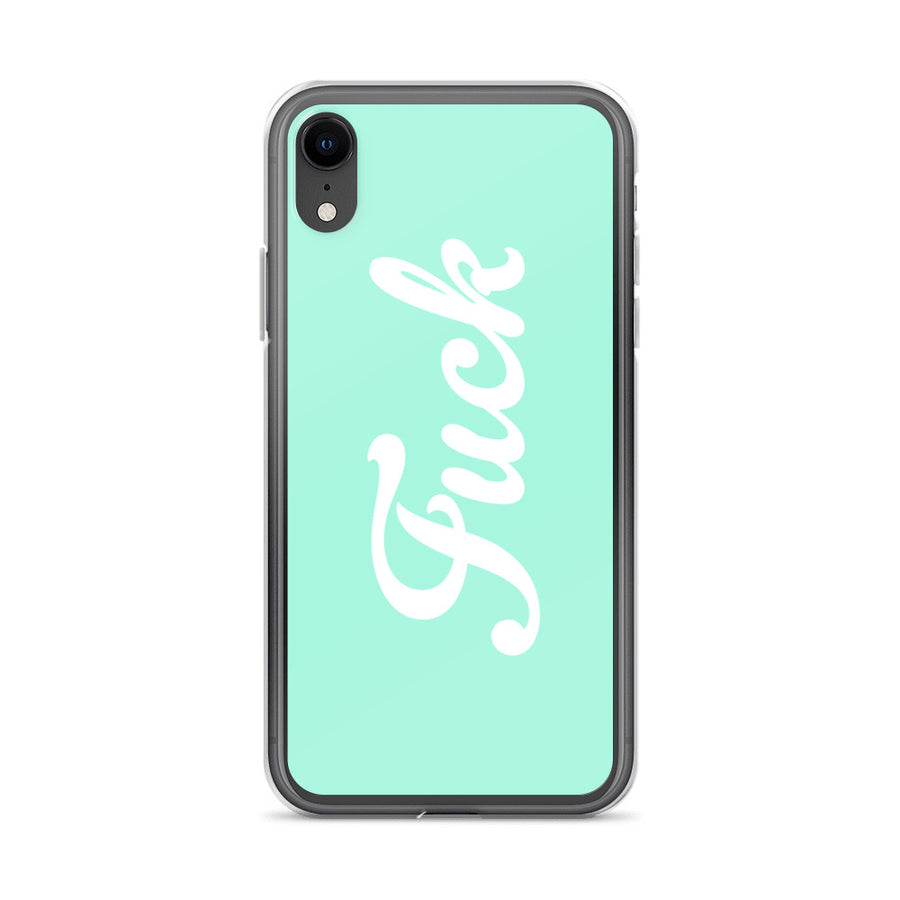 Fuck Mint Turquoise Teal Boho iPhone Case