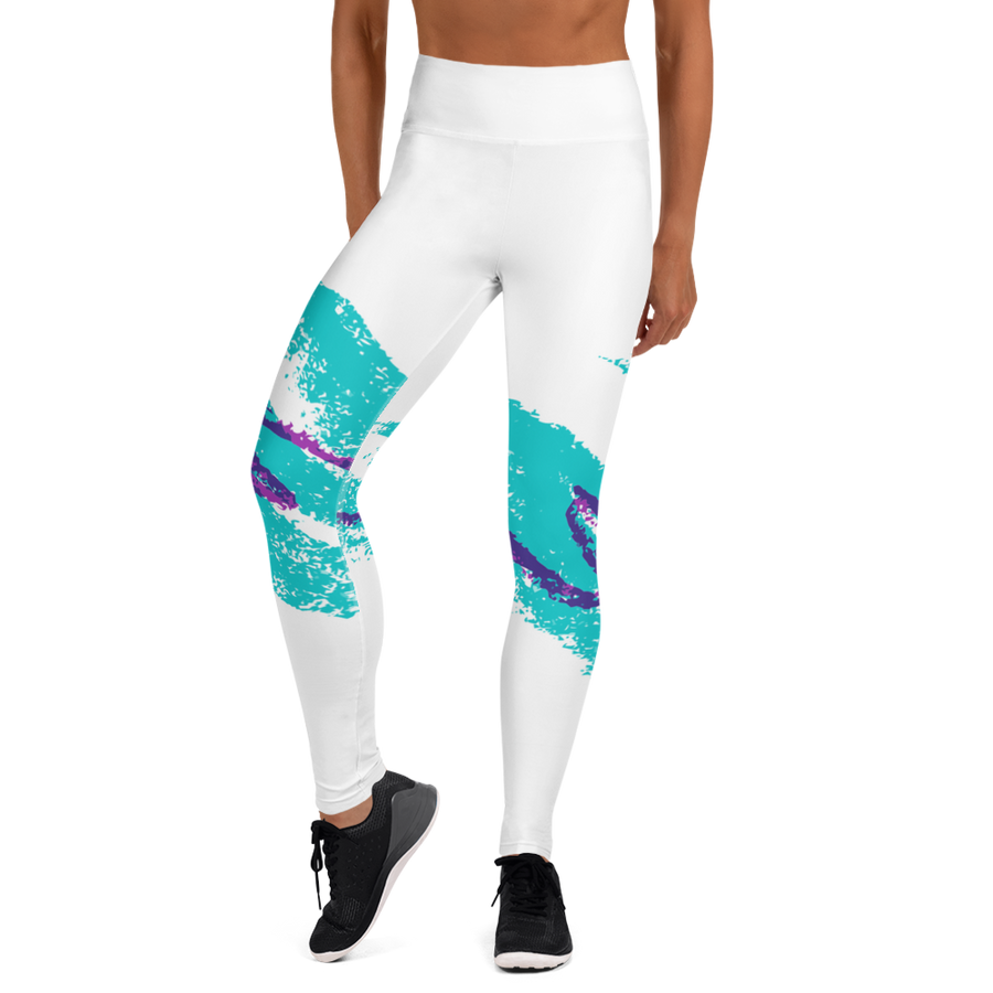 Jazz Cup Retro 90's Print Yoga Leggings